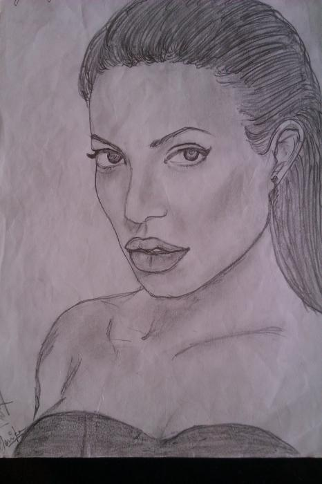 Angelina Jolie by mounika